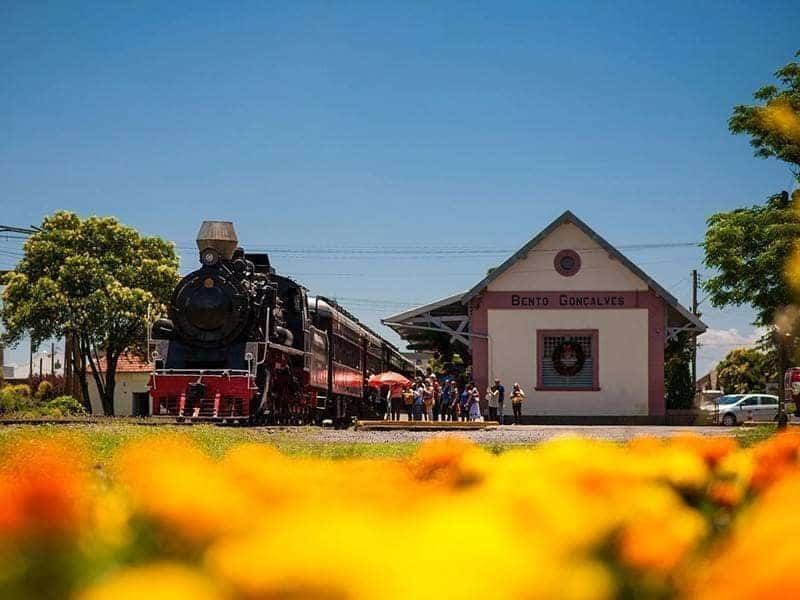 estação de trem em Bento Gonçalves
