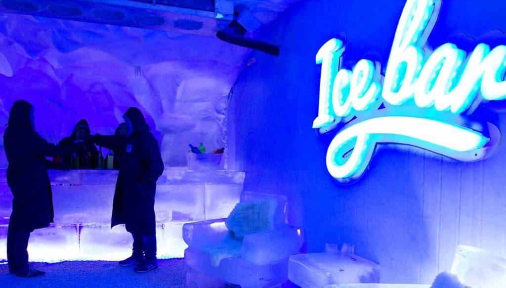 mundo gelado do capitão ice bar