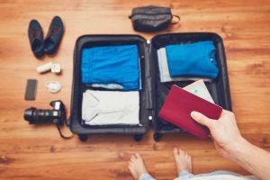 preparando uma mala de viagens