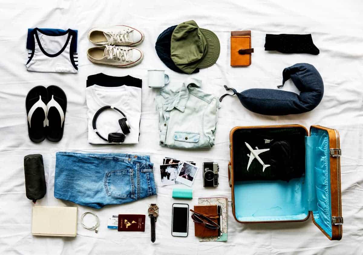 preparando mala de viagem
