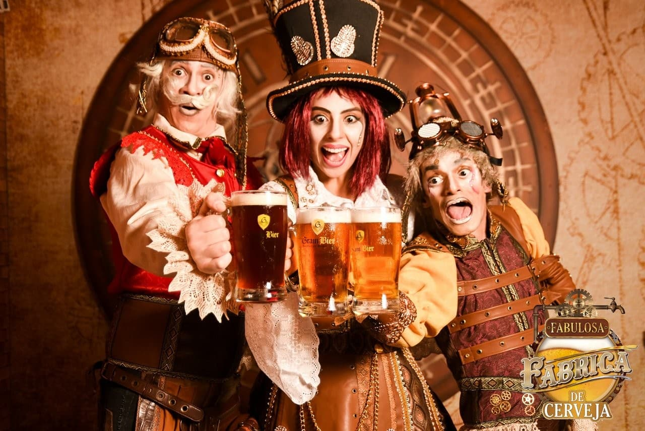personagens passeio fabulosa fábrica de cerveja