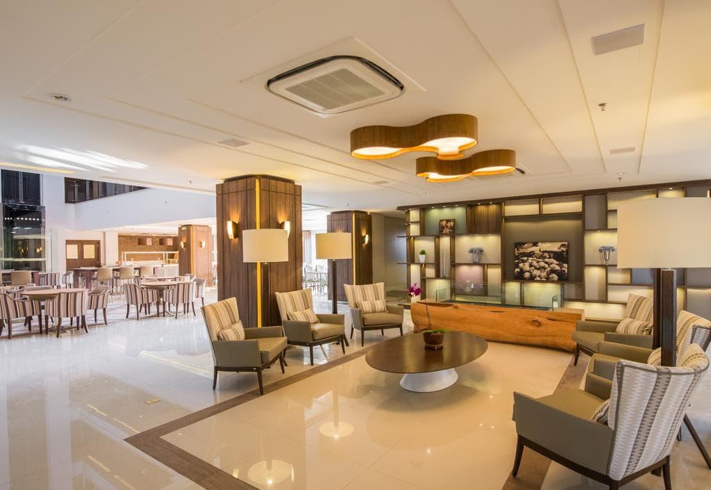 espaço lounge do hotel